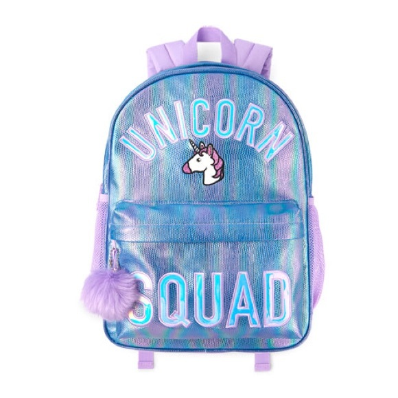 3647a803129a Girls  Unicorn Squad  Textured Iridescent Backpack